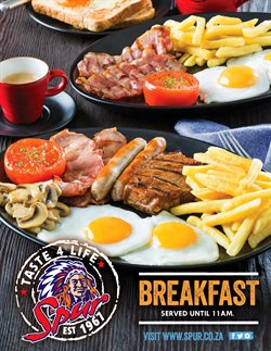 Restaurants offers in the Spur catalogue in Port Elizabeth ( 24 days left )
