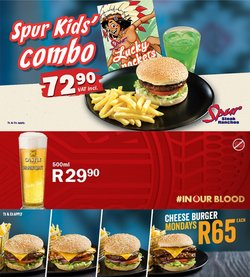 Restaurants offers in the Spur catalogue ( 1 day ago)