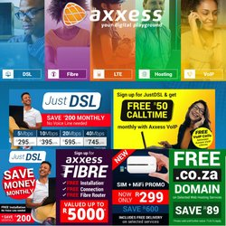 Axxess offers in the Axxess catalogue ( More than a month)