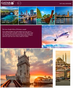 Travel offers in the Qatar Airways catalogue in Cape Town