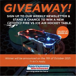 Sportsmans Warehouse offers in the Sportsmans Warehouse catalogue ( Expires today)