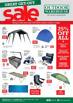 Outdoor Warehouse deals in the Johannesburg special