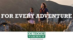 Sport offers in the Outdoor Warehouse catalogue in Bloemfontein ( 20 days left )