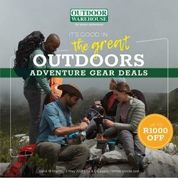 Sport offers in the Outdoor Warehouse catalogue in Cape Town ( 18 days left )