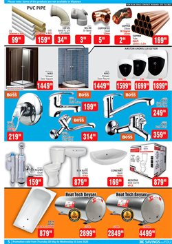 Toilets specials in KitKat Cash and Carry