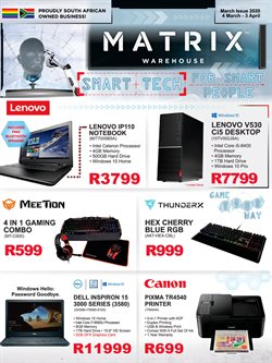 Laptop specials in Matrix Warehouse
