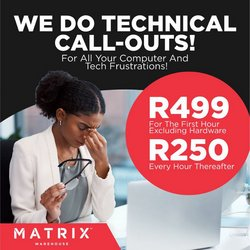 Matrix Warehouse catalogue ( Expires today)