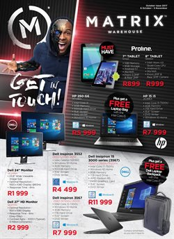 Tablet offers in the Matrix Warehouse catalogue in Klerksdorp