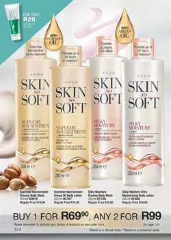 Soap offers in the AVON catalogue in Cape Town