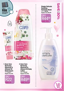 Hand cream specials in AVON