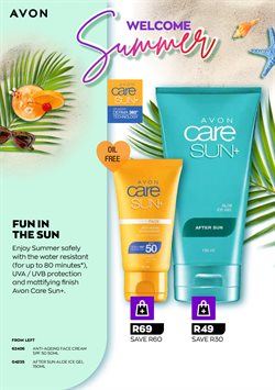 Face lotion specials in AVON