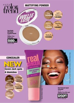 Pressed powder specials in AVON