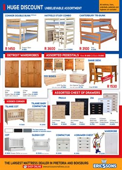 Wardrobe offers in the Ericssons catalogue in Johannesburg