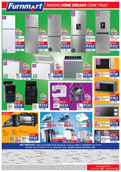 Stove specials in Furnmart