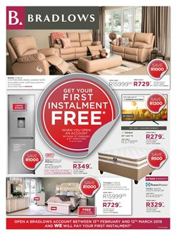 Bradlows deals in the Sandton special