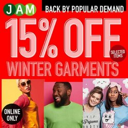 JAM Clothing offers in the JAM Clothing catalogue ( Expires tomorrow)