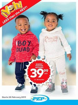 Clothes, shoes & accessories offers in the PEP catalogue in Port Elizabeth