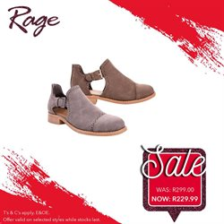 Sandals offers in the Rage catalogue in Cape Town