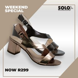Clothes, Shoes & Accessories offers in the Solo Shoes catalogue in Durban ( Expires tomorrow )