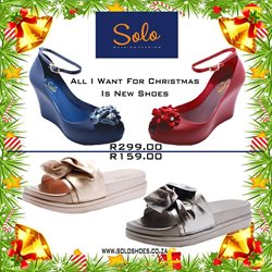 Solo Shoes deals in the Pretoria special