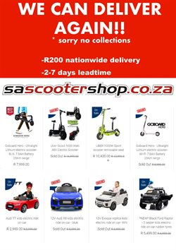 Toy car specials in SA Scooter Shop