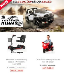 Babies, Kids & Toys offers in the SA Scooter Shop catalogue ( Published today)