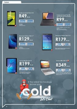 Tablet offers in the Chatz Connect catalogue in Cape Town