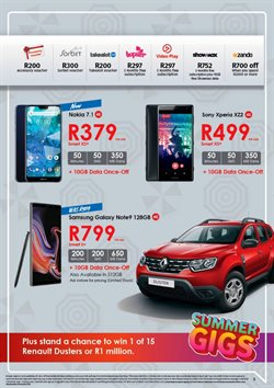 Sony smartphones offers in the Chatz Connect catalogue in Cape Town