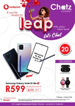 Electronics & Home Appliances offers in the Chatz Connect catalogue in Roodepoort ( 13 days left )