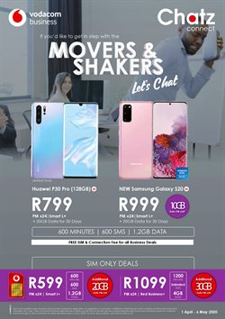 Electronics & Home Appliances offers in the Chatz Connect catalogue in Cape Town ( 26 days left )