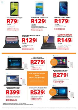 Samsung tablet offers in the Chatz Connect catalogue in Cape Town