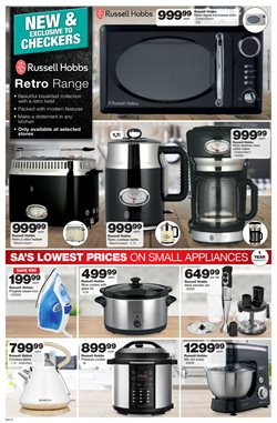 Microwave Offers In The Checkers Catalogue Port Elizabeth