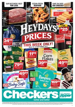 Groceries offers in the Checkers catalogue in Durban
