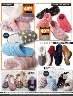 Slippers specials in Checkers