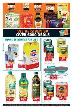 Nutrific specials in Checkers