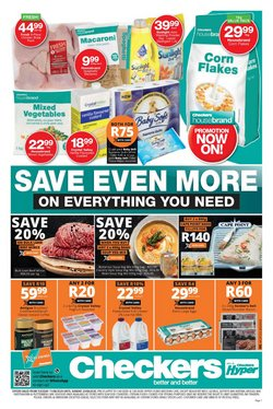 Cape Point specials in Checkers