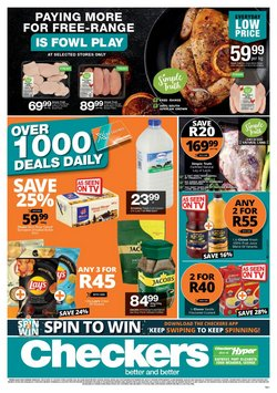 Groceries offers in the Checkers catalogue ( 9 days left)