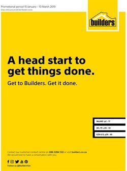 Builders Warehouse deals in the Cape Town special