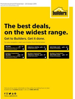 Builders Warehouse deals in the Somerset West special