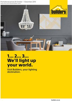 Builders Warehouse deals in the Johannesburg special