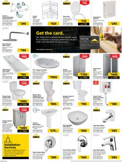Lamp specials in Builders Warehouse