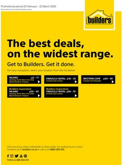 DIY & Garden offers in the Builders Warehouse catalogue in Port Elizabeth ( Published today )