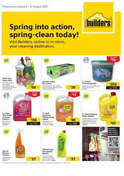 Cleaners specials in Builders Warehouse