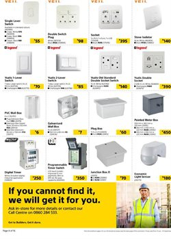 Boxes specials in Builders Warehouse
