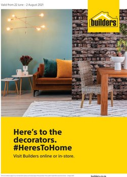 Builders Warehouse offers in the Builders Warehouse catalogue ( 3 days left)
