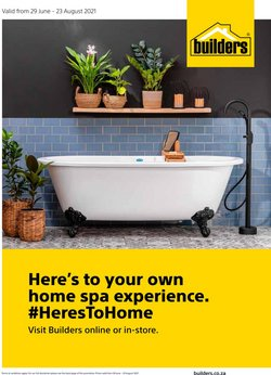 Builders Warehouse offers in the Builders Warehouse catalogue ( 24 days left)