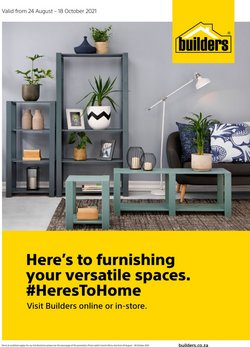 Builders Warehouse offers in the Builders Warehouse catalogue ( Expires tomorrow)