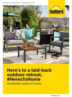 DIY & Garden offers in the Builders Warehouse catalogue ( More than a month)
