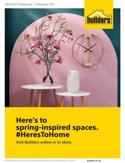 Builders Warehouse offers in the Builders Warehouse catalogue ( 15 days left)