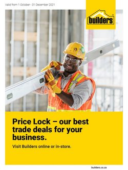 Builders Warehouse offers in the Builders Warehouse catalogue ( More than a month)